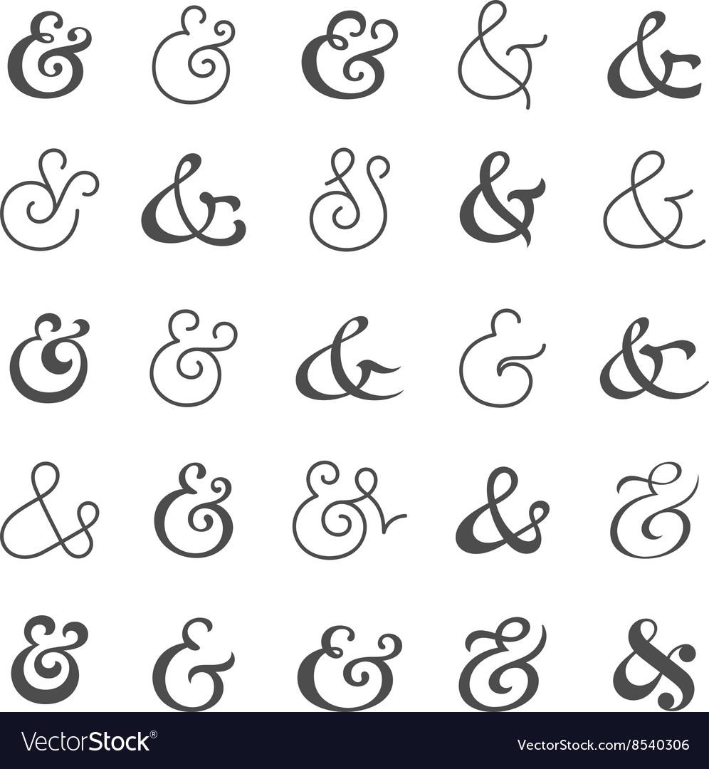Big ampersand symbol collection
