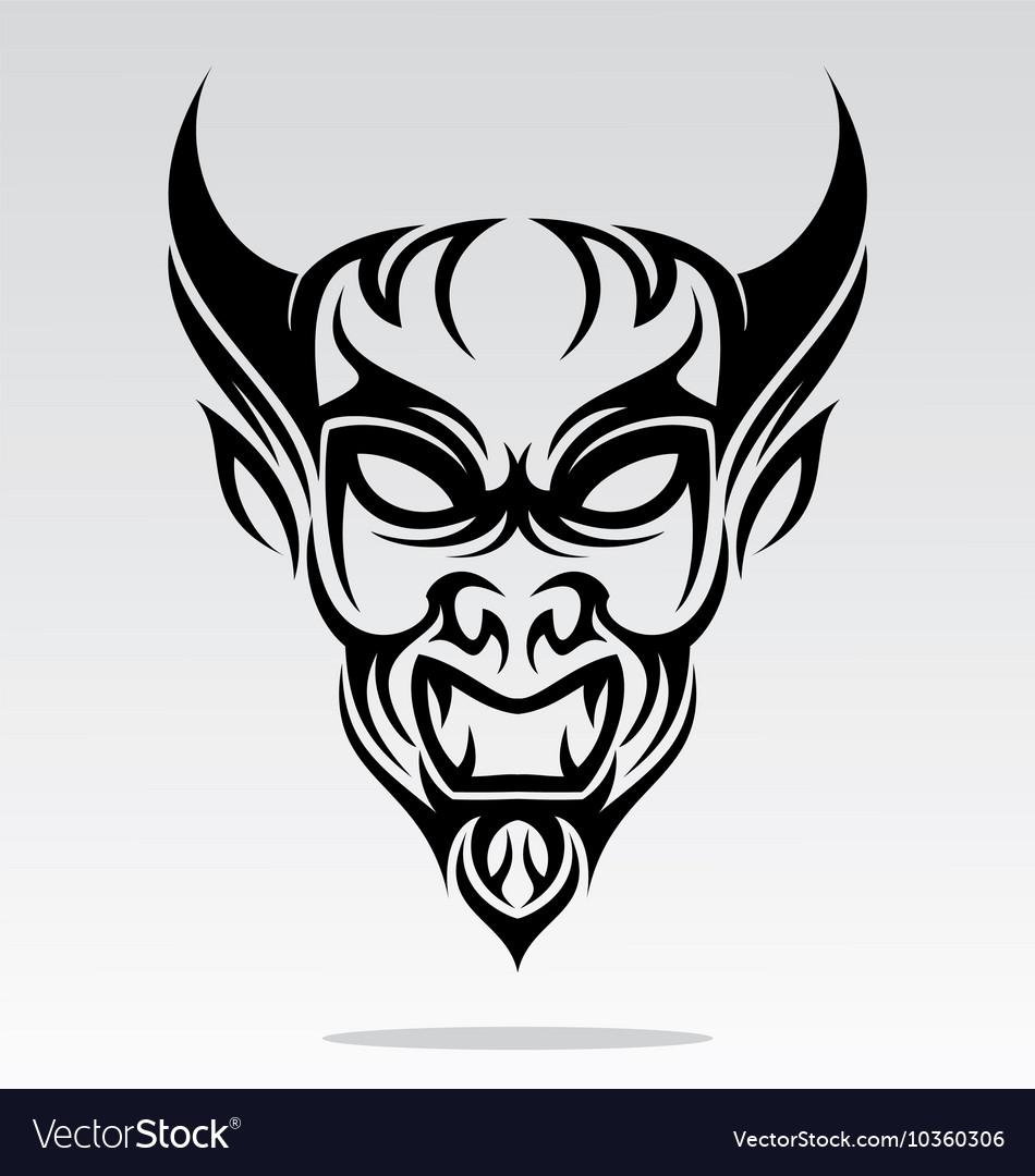 Devils Head Tattoo Design