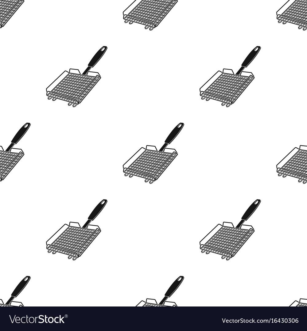 Grill grillbbq single icon in black style