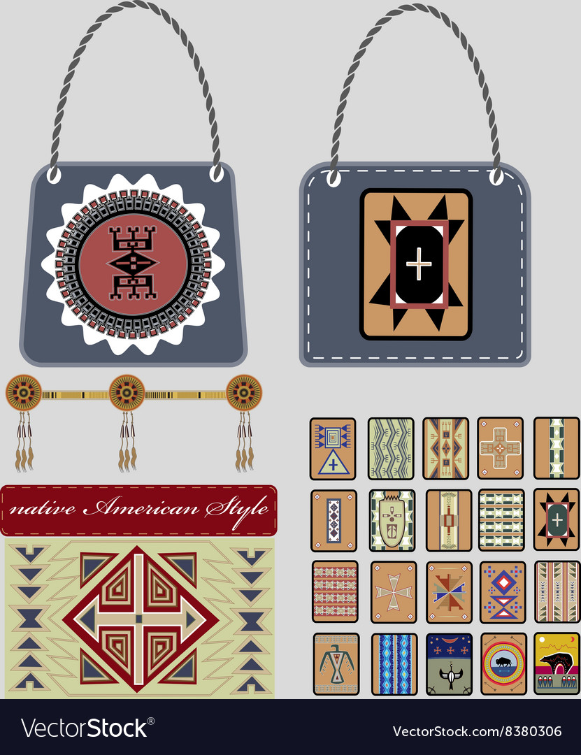 Native American style vector image