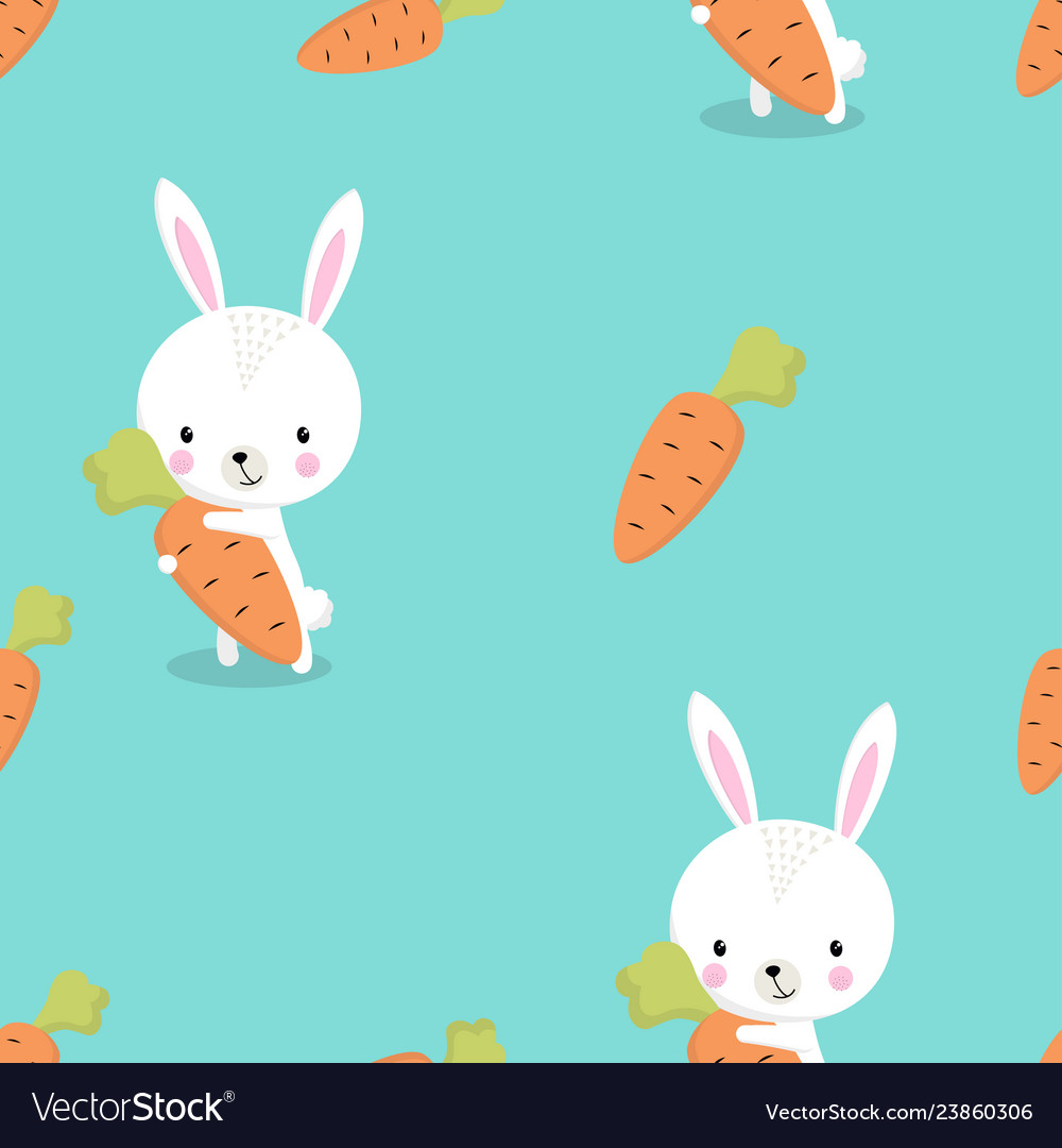 Pattern bunny with carrot