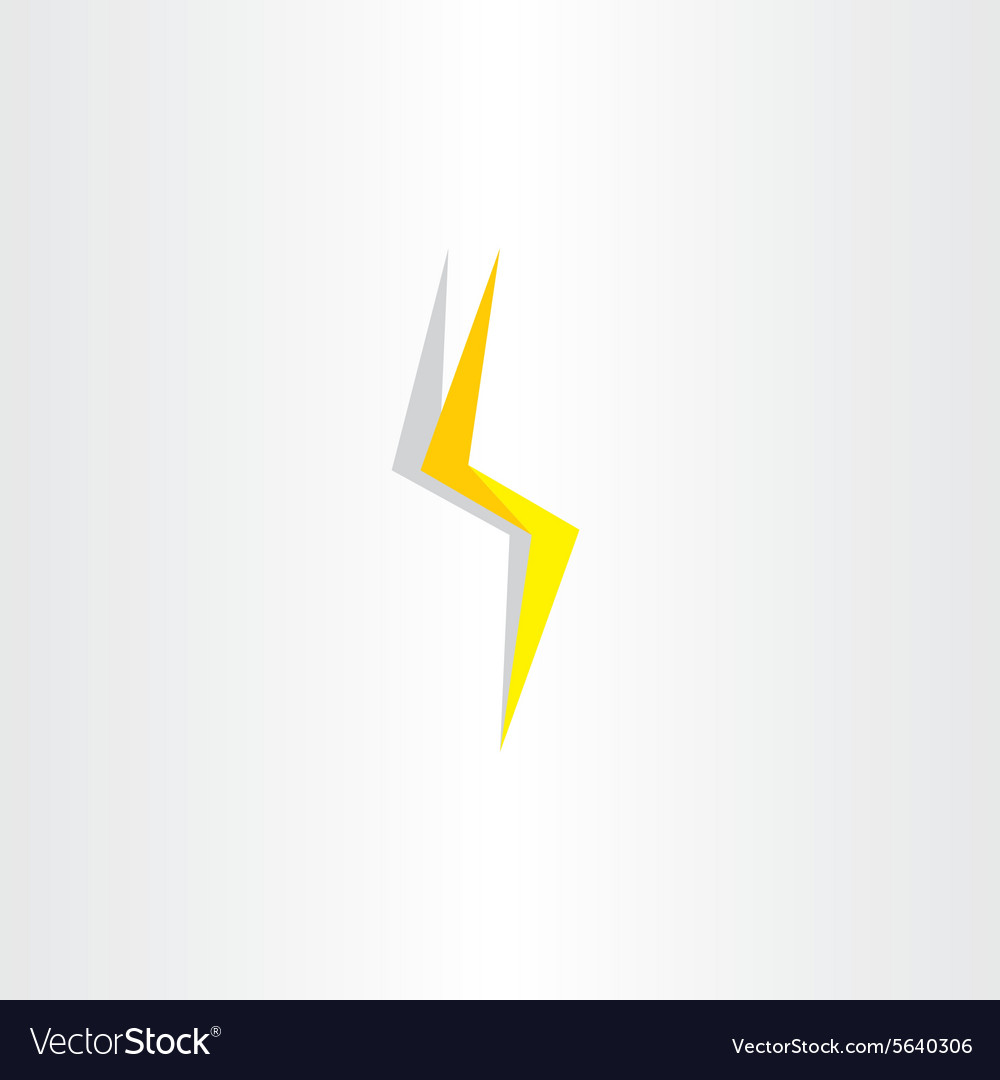 Thunder Lighting Bolt Yellow Flash Icon Vector Image