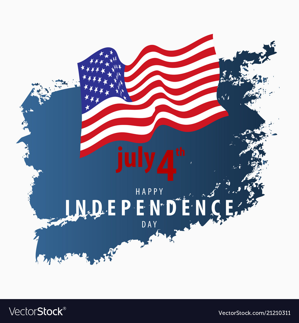 4th july independence day card template