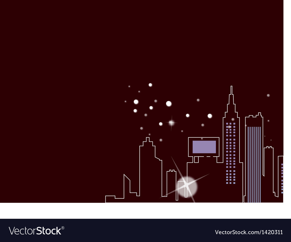 Abstract City Night Outline