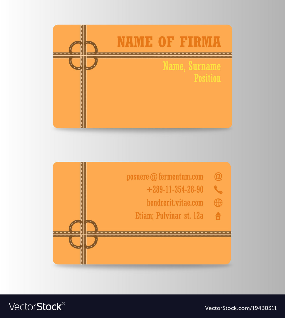 Business card background collection Royalty Free Vector