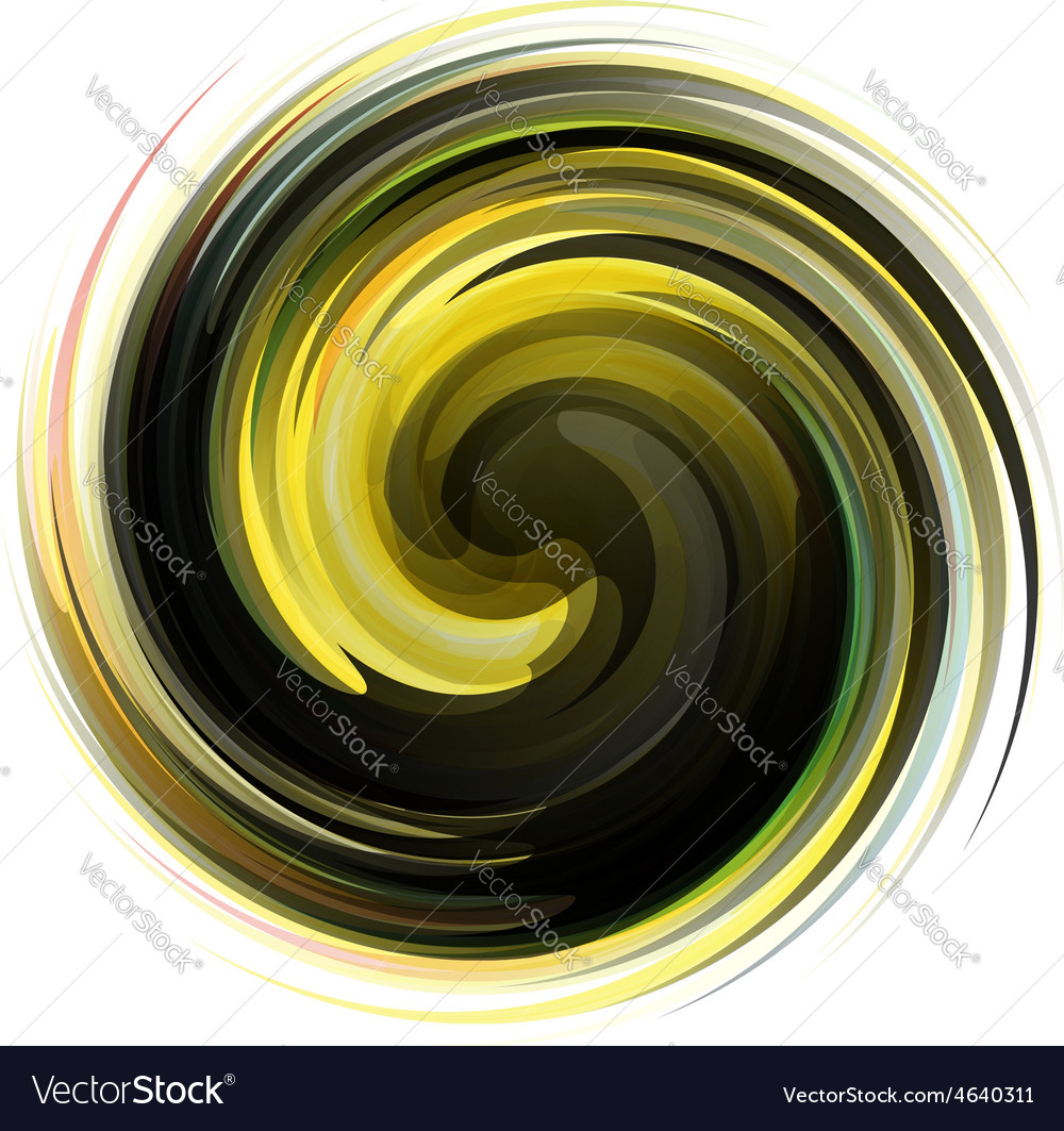 Colorful abstract icon Dynamic flow vector image