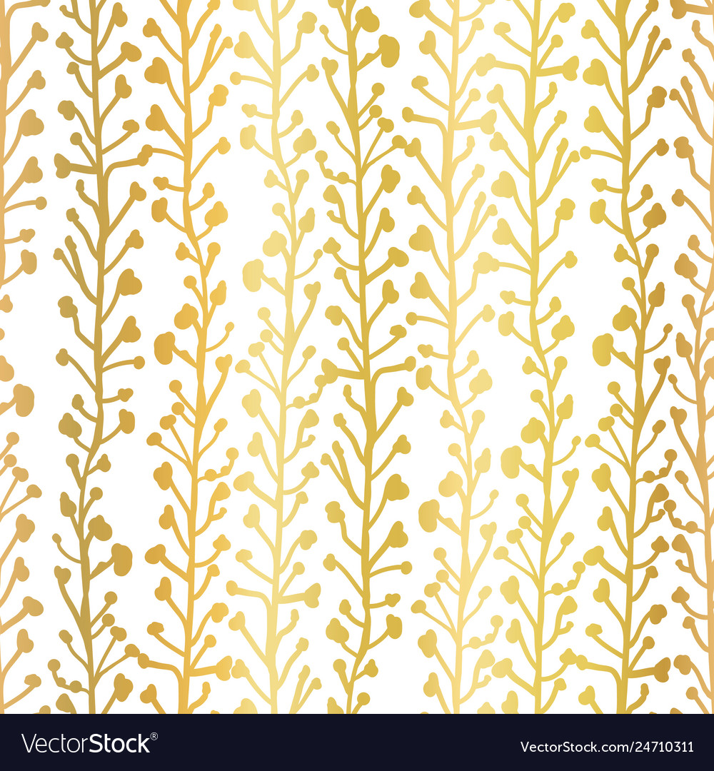 Gold foil nature background seamless
