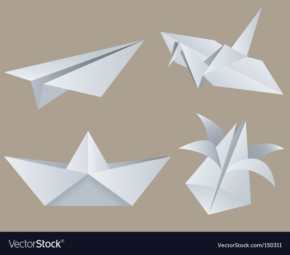 Origami vector image