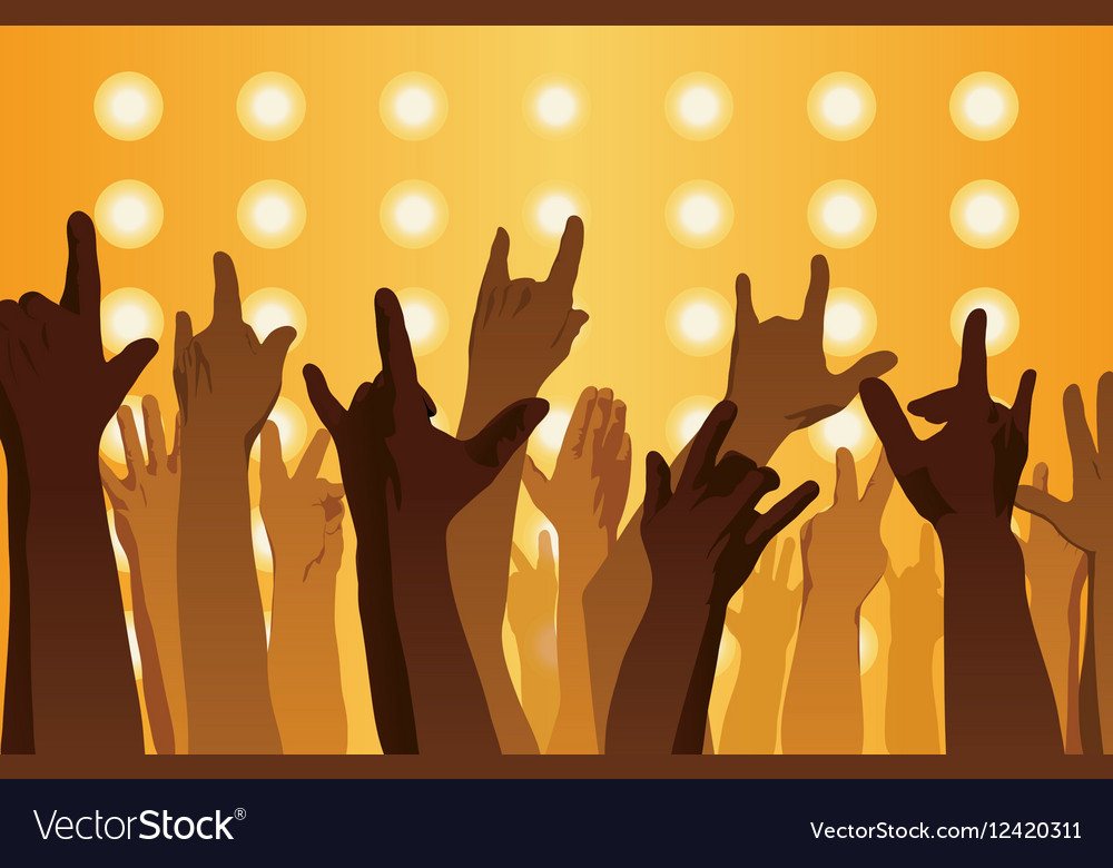 Rock concert Hands up vector image