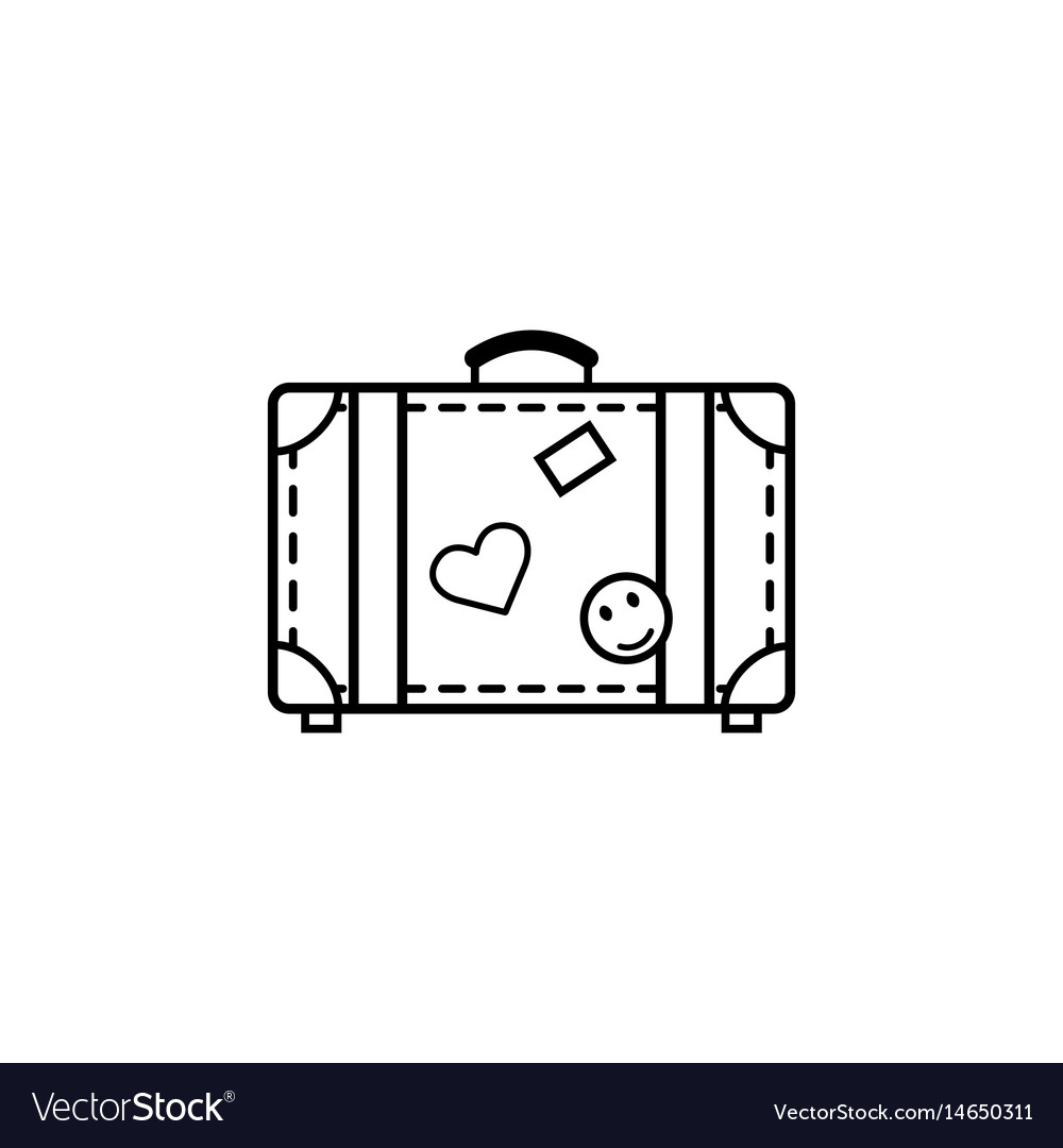 Travel bag line icon travel tourism