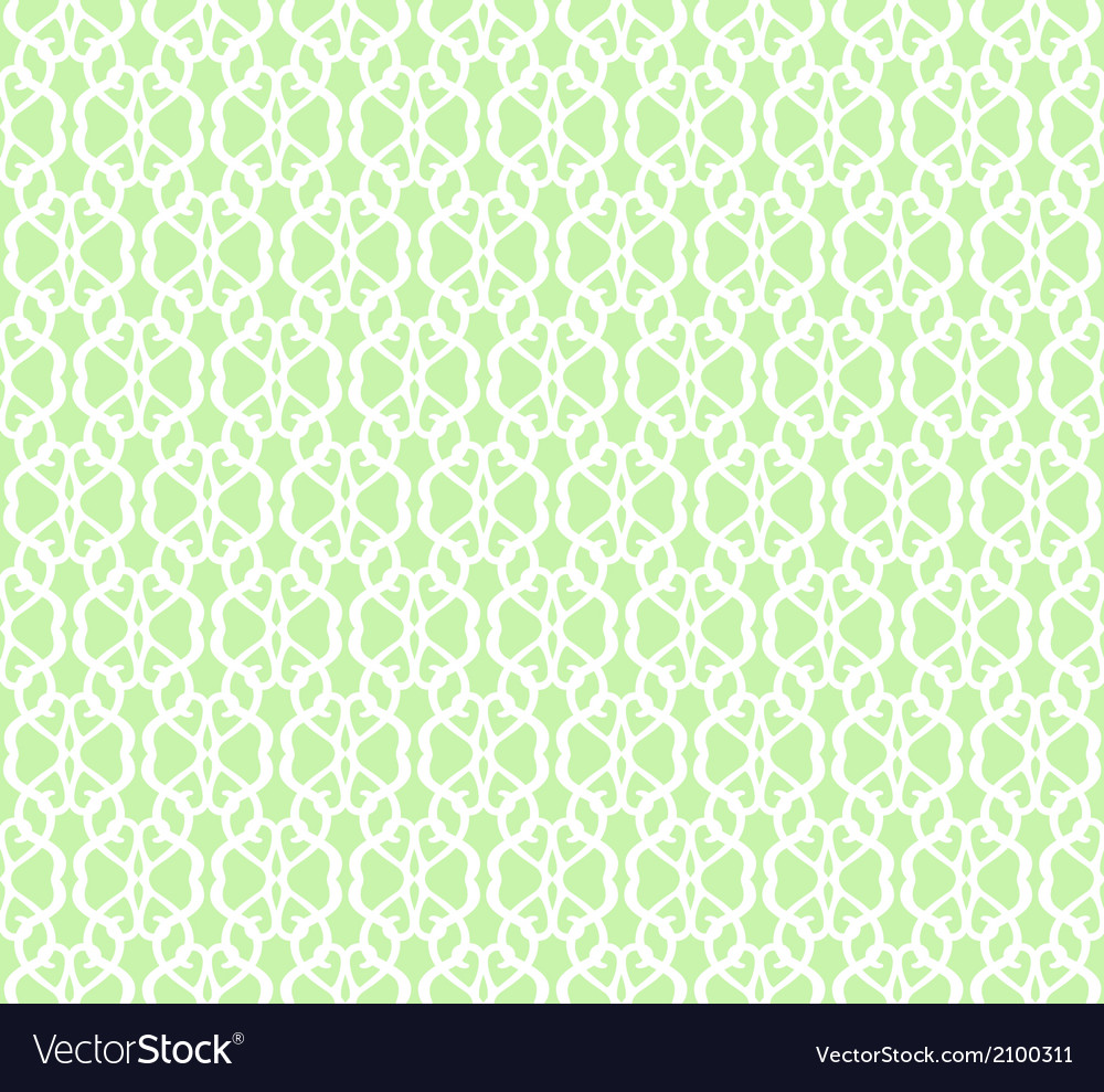 White Forged Seamless Pattern on green background