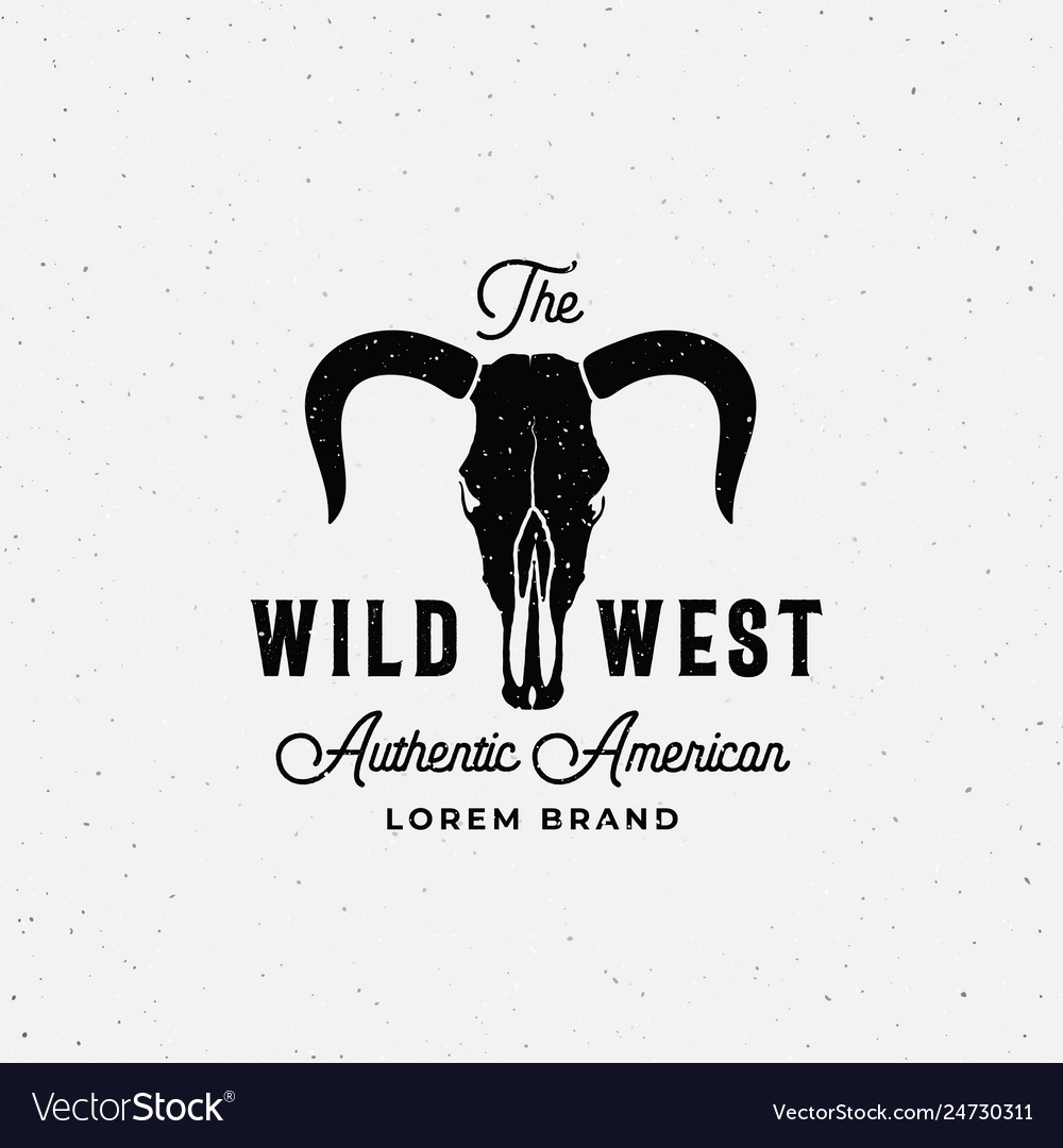 Wild west american abstract sign symbol or