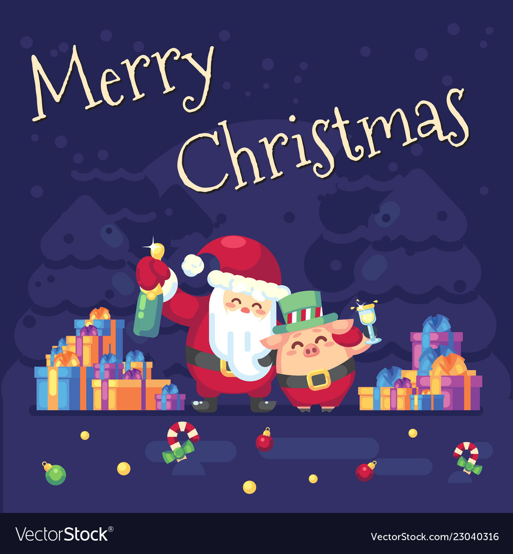 2019 new year merry christmas symbol santa claus