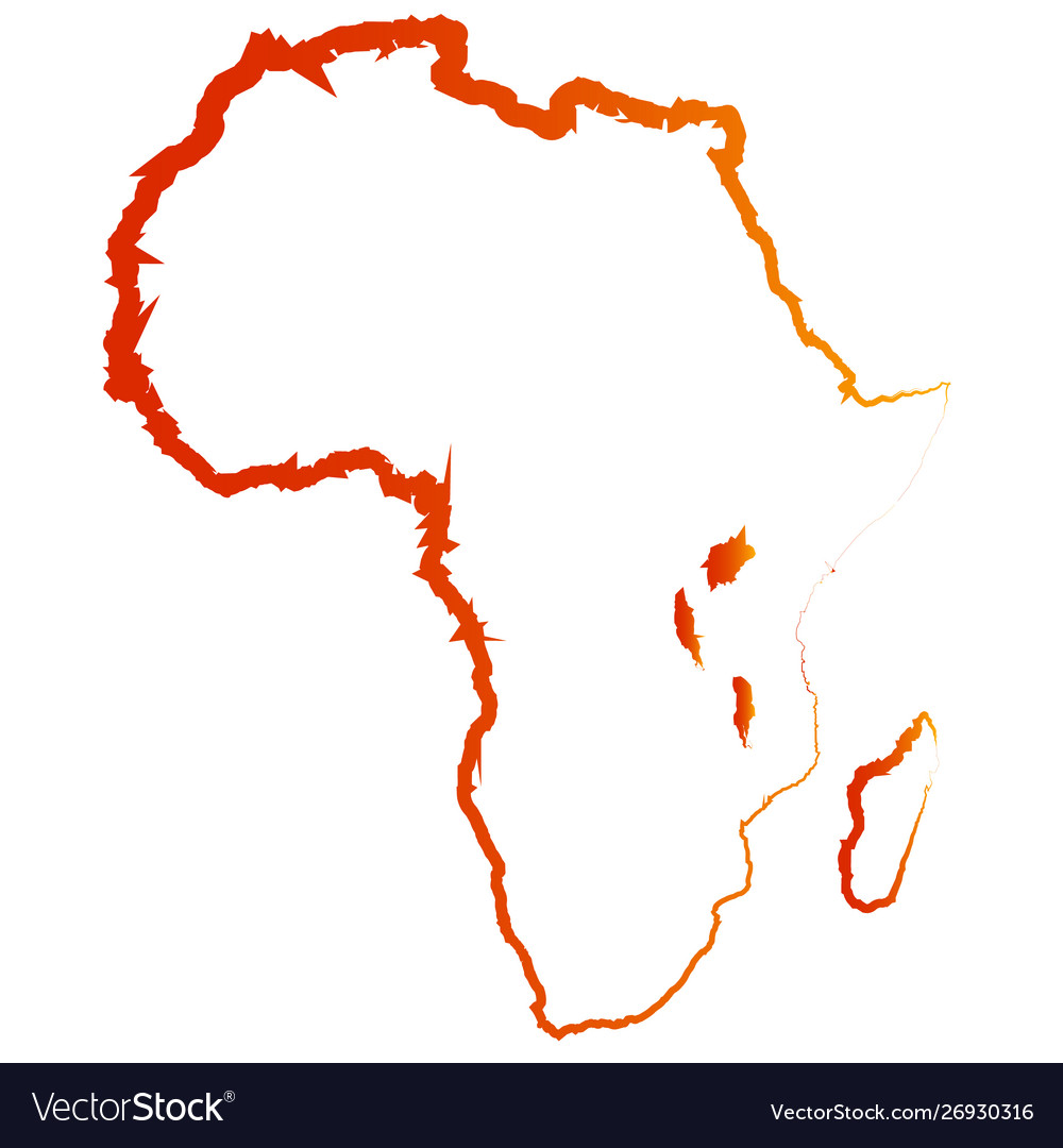 Africa Map Silhouette Vector.Abstract Silhouette Africa