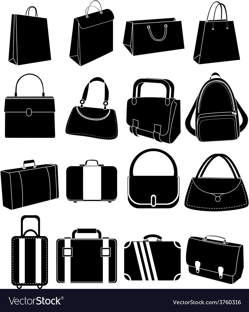 Bag icons set