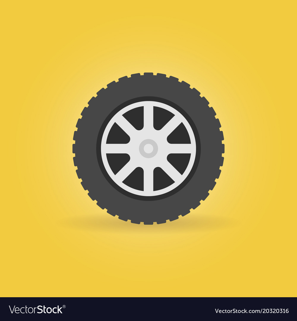 cffda2961a421e Car wheel flat icon - car service symbol Vector Image