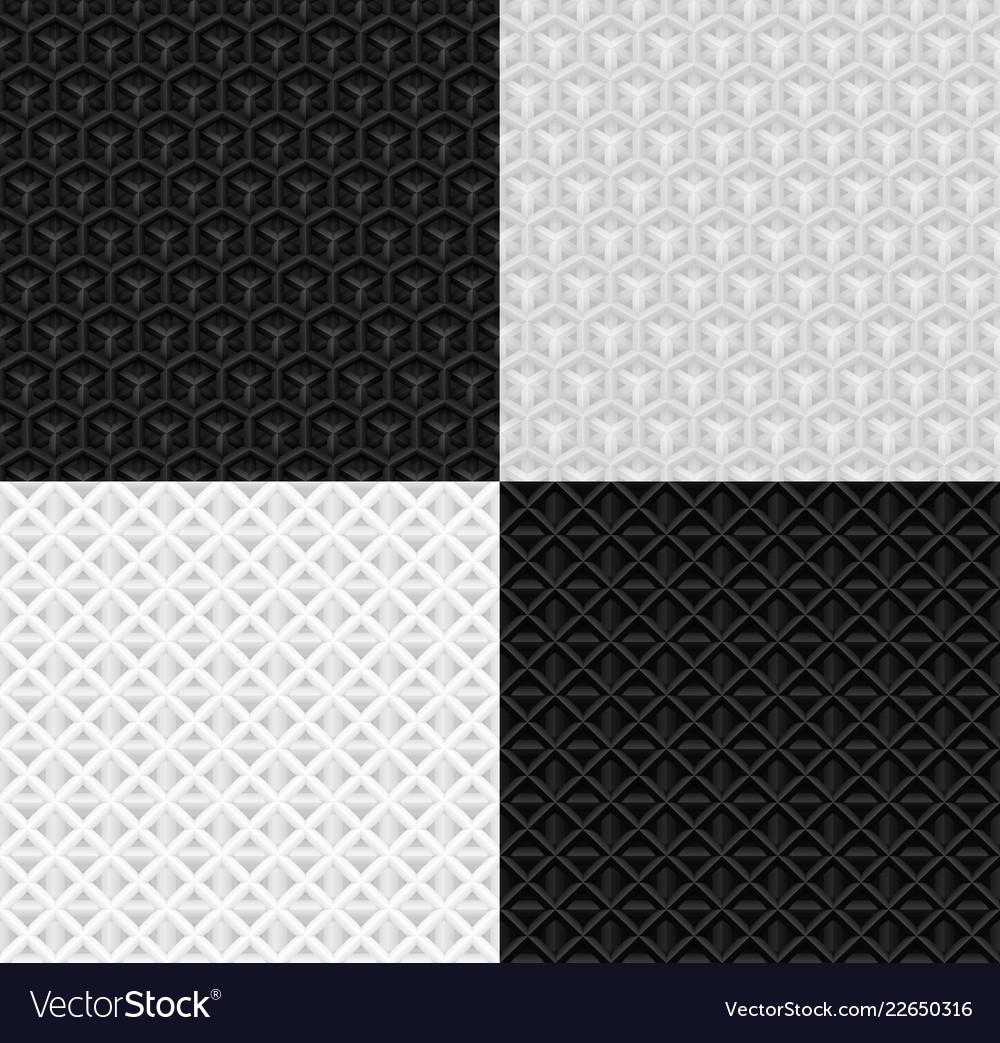 Seamless volumetric geometric paper pattern