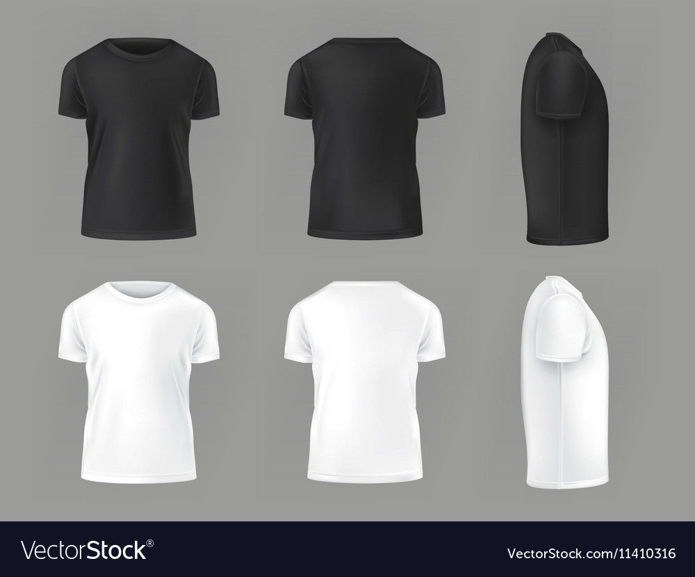 Set template of male T-shirts Royalty Free Vector Image