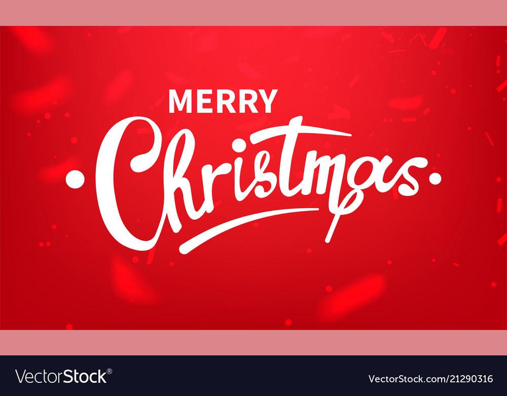 Stock calligraphic text merry