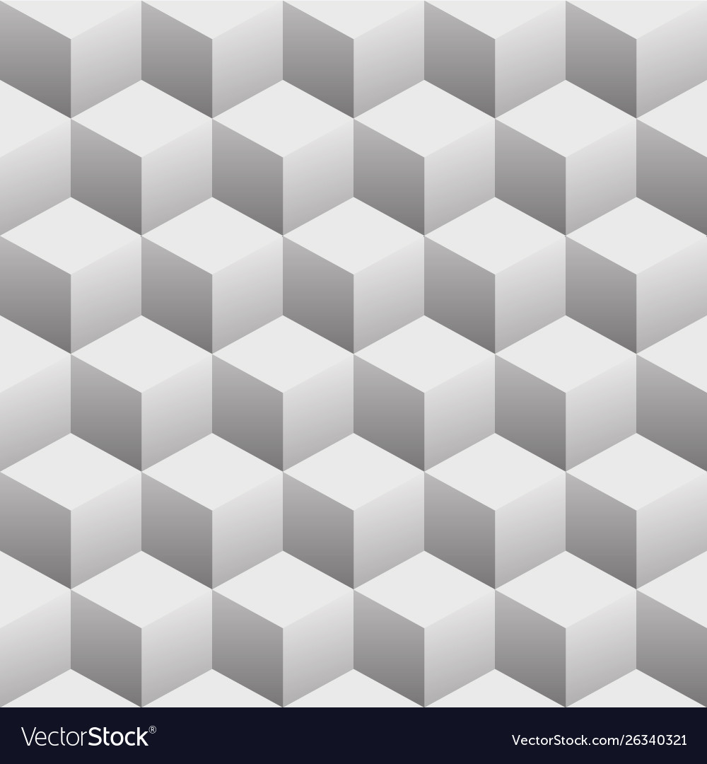 3d cubes seamless repeating pattern
