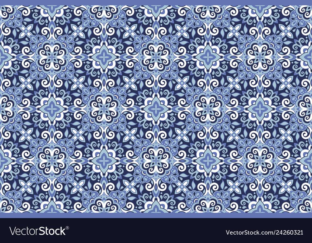 Azulejos tile seamless pattern