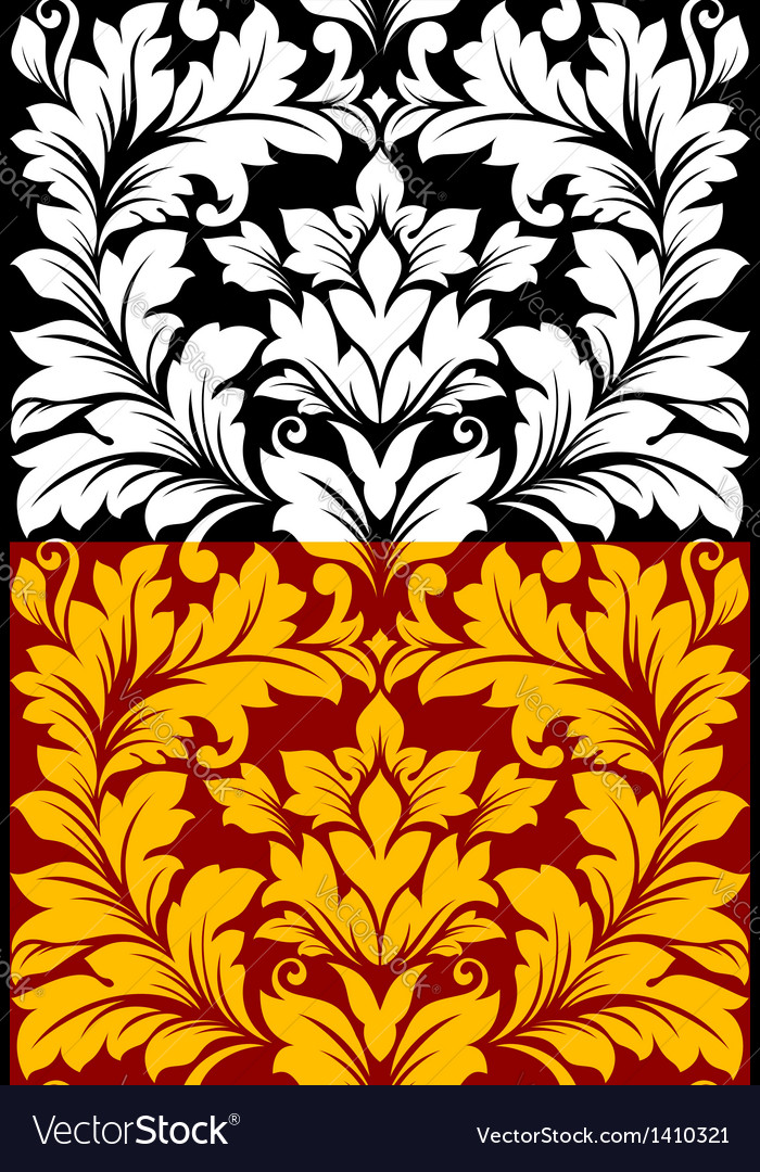 Beautiful seamless pattern in retro damask floral