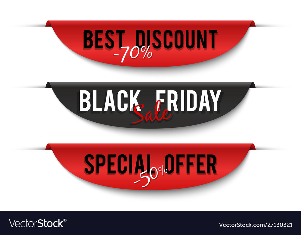 Black friday sale special price labels sale