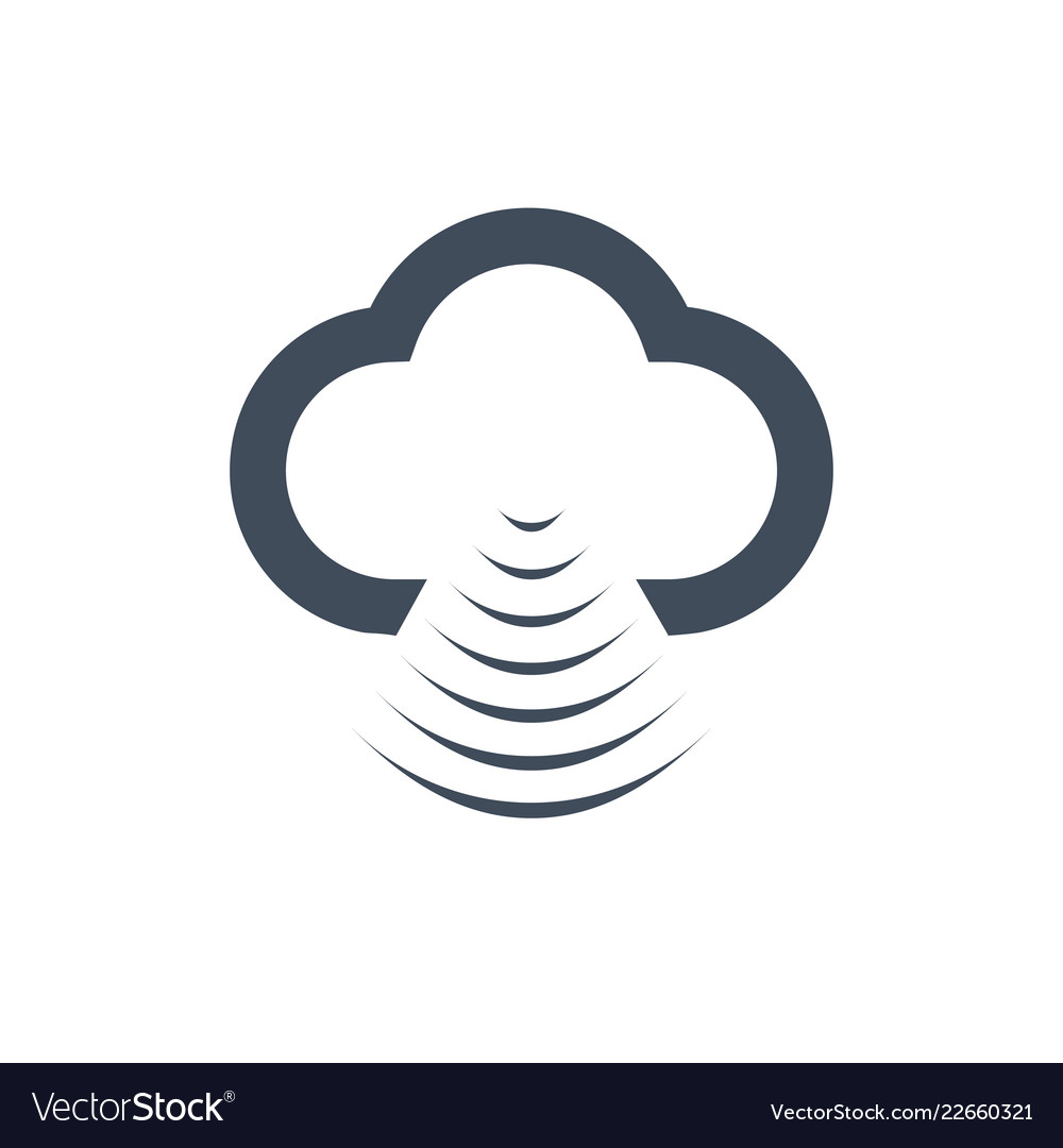 Cloud data sharing with wlanwifi icon isolated on