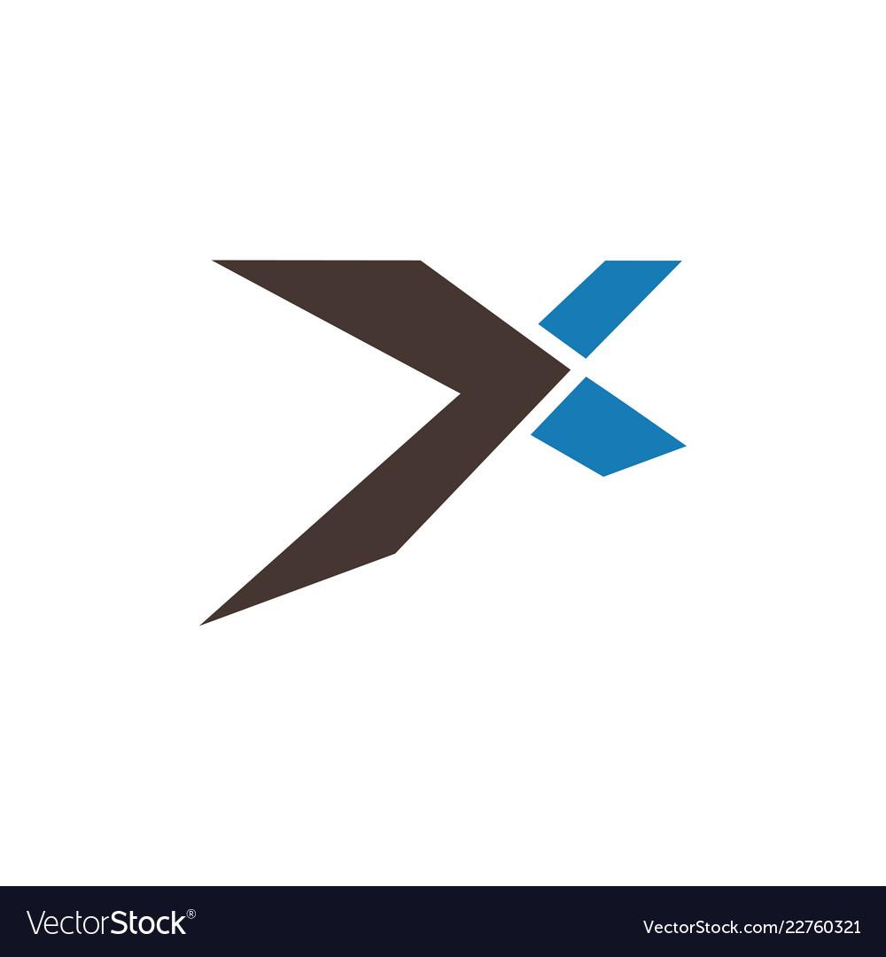 Letter x graphic design template