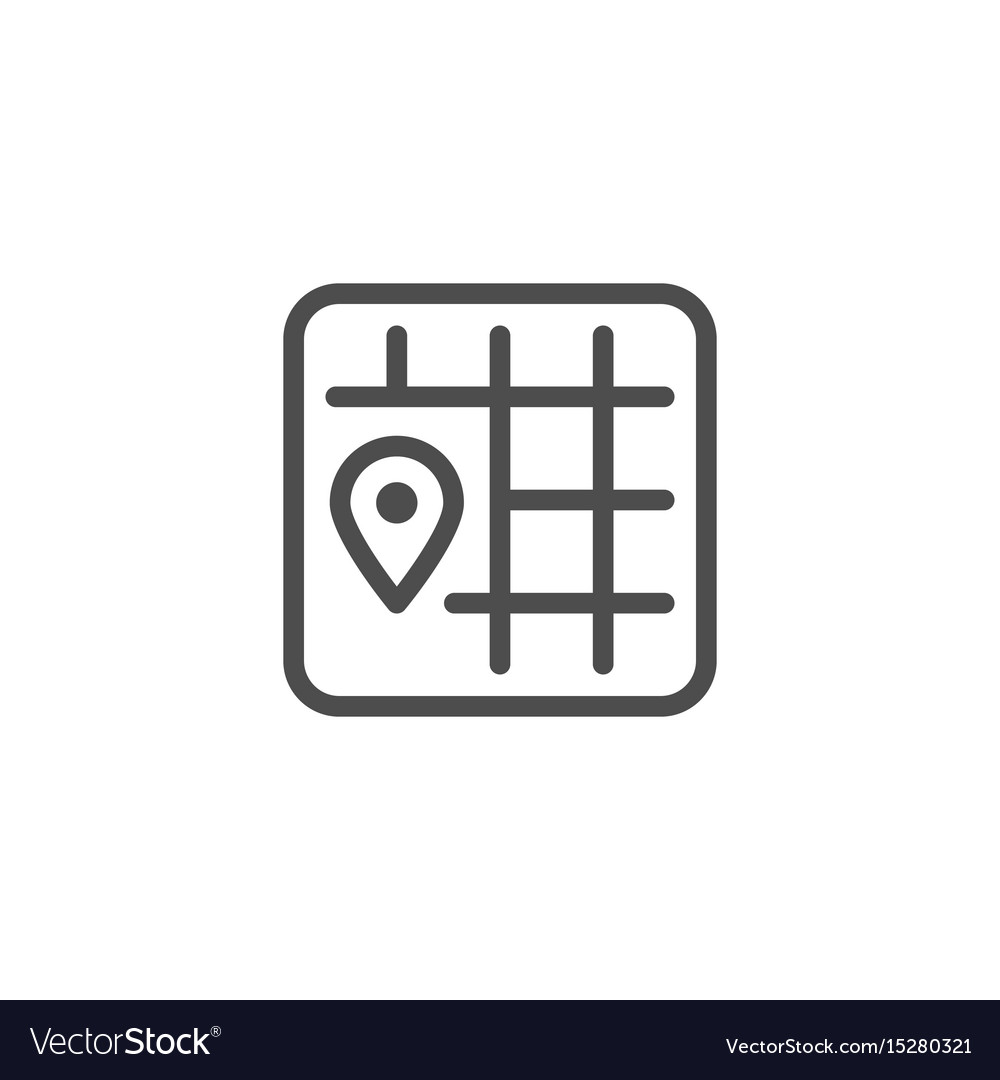 Location line icon