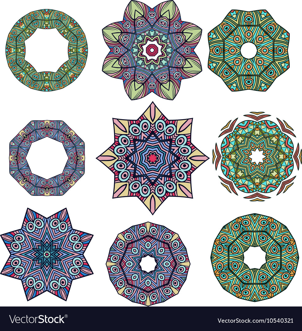 Mandalas Round Ornament Pattern
