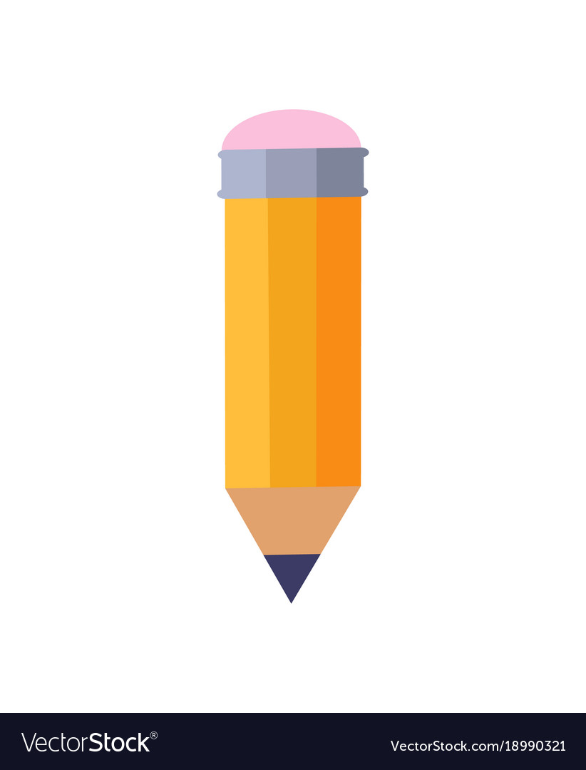 Pencil with eraser vector image