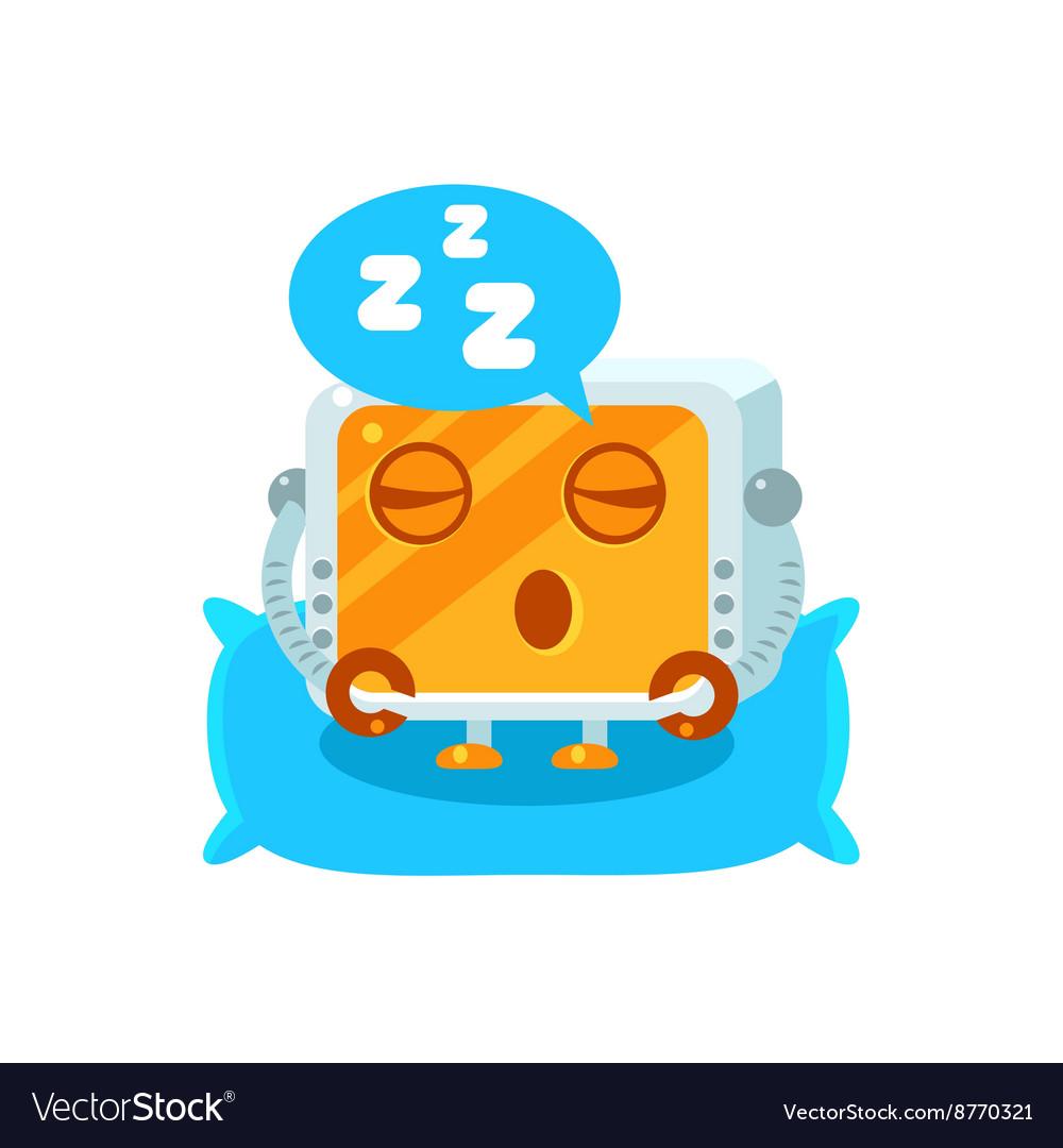 Sleeping Little Robot Character