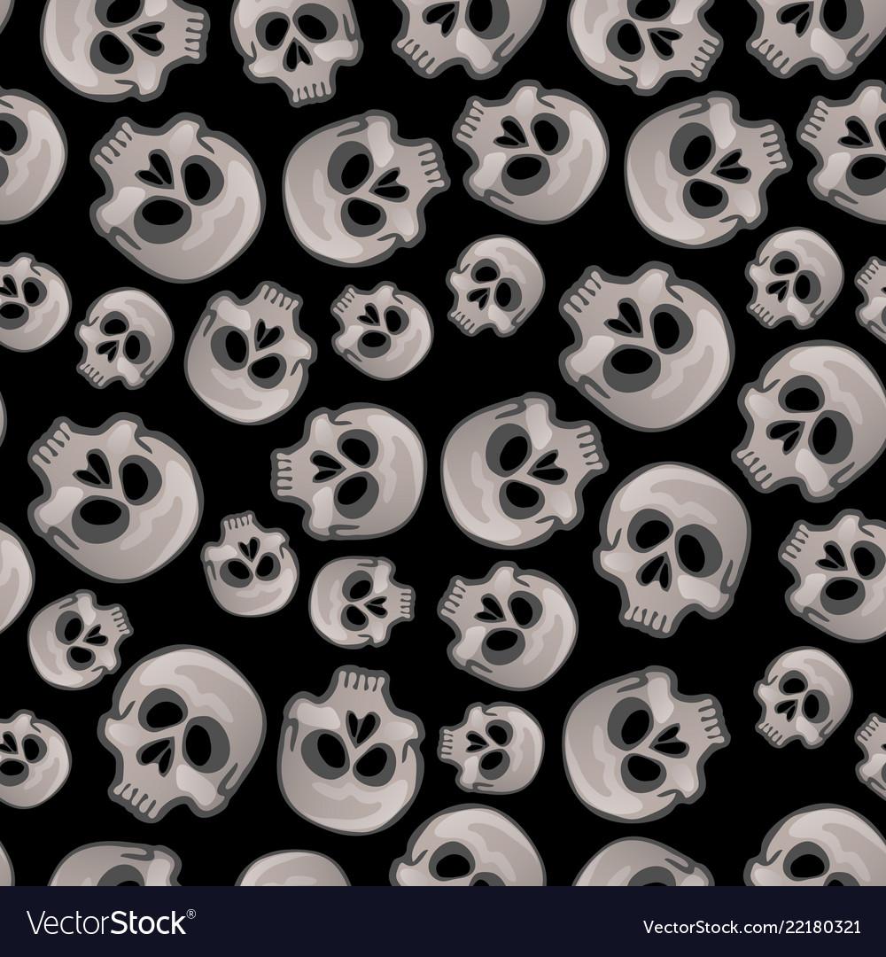 Texture of human skull isolated on black