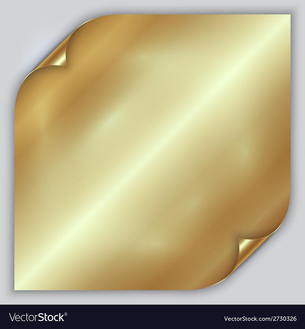 Abstract golden metallic rolled foil sheet