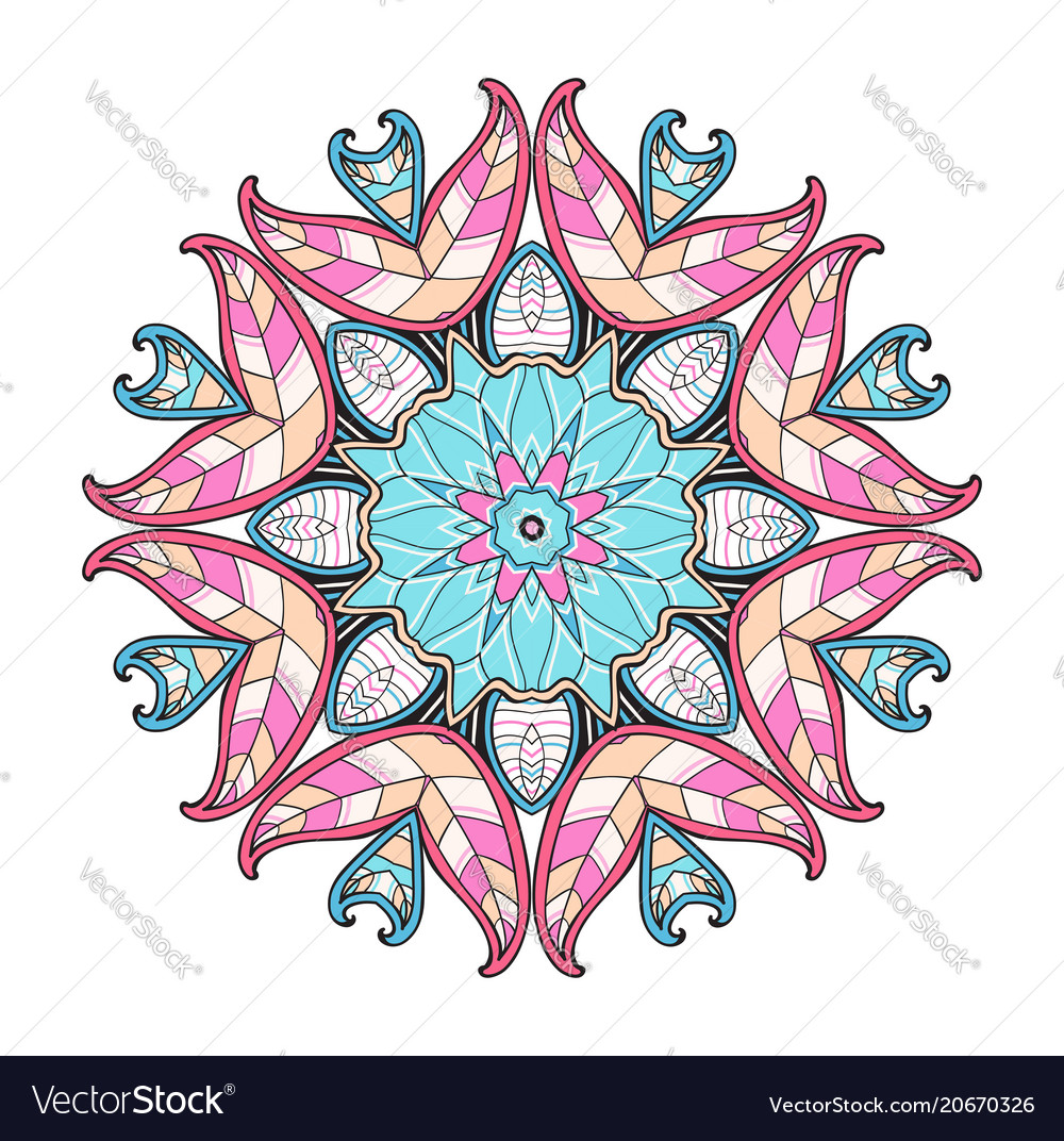 Abstract round oriental ornament