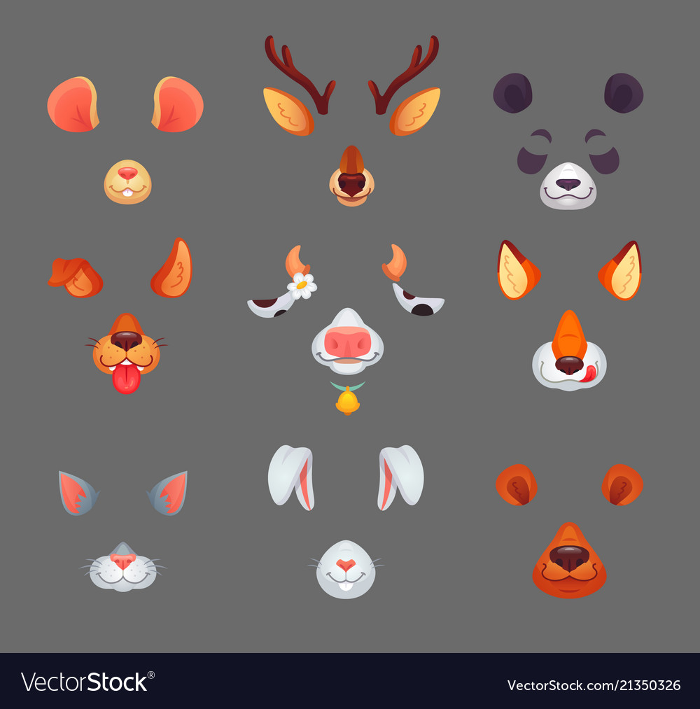 Animals for phone app funny animal filter masks