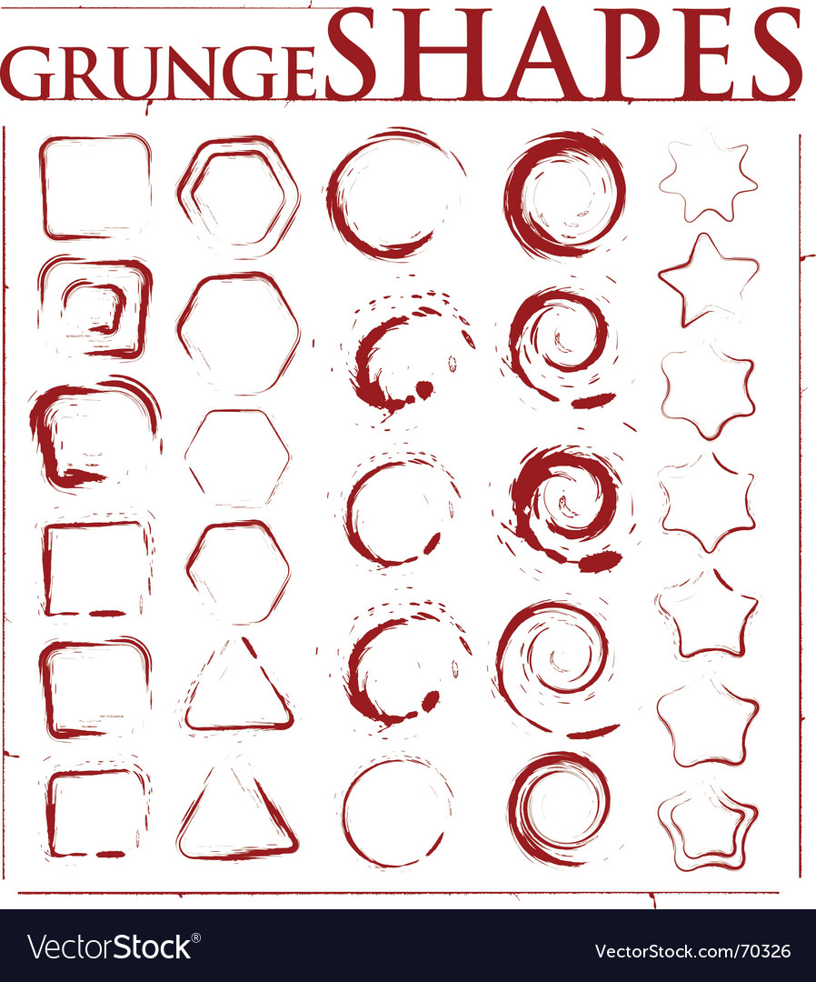 Grunge shapes vector image