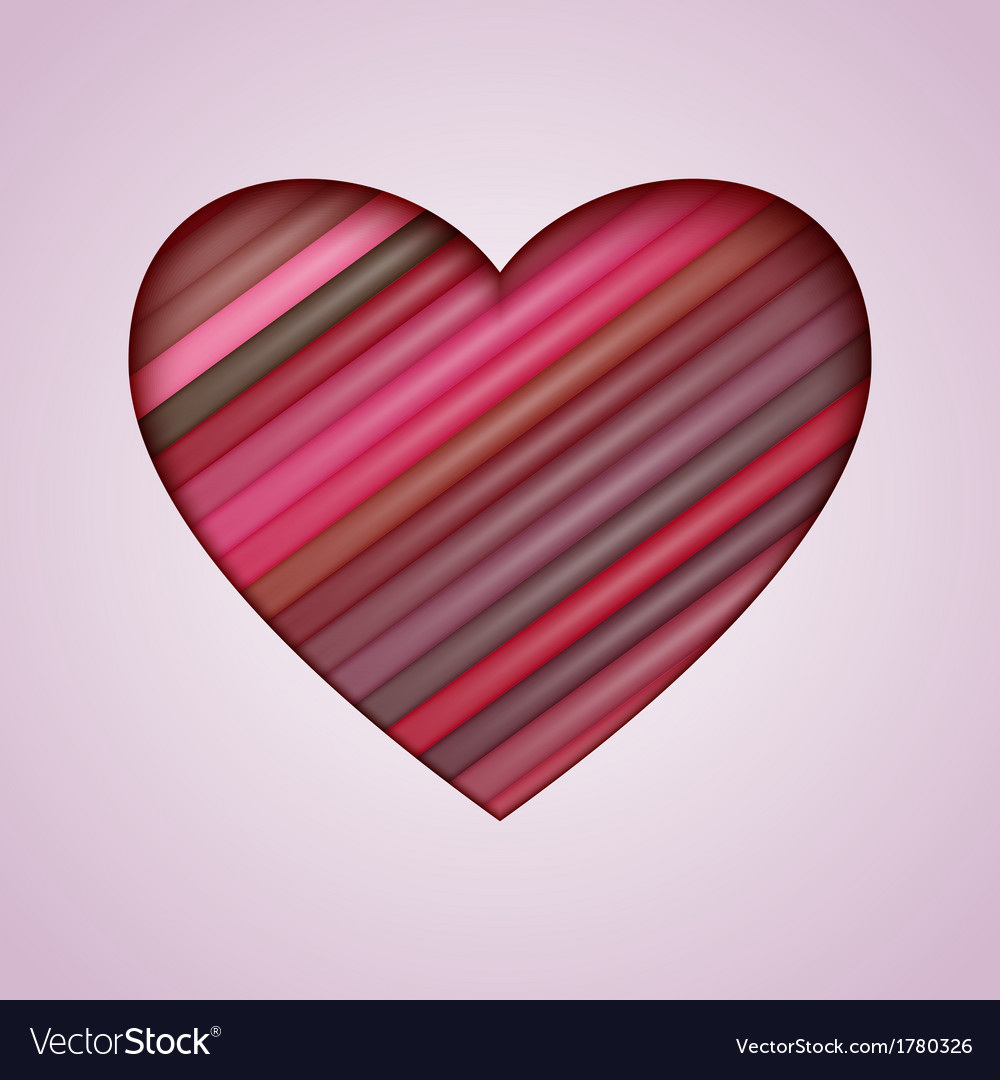 Heart Made from Color Stripes