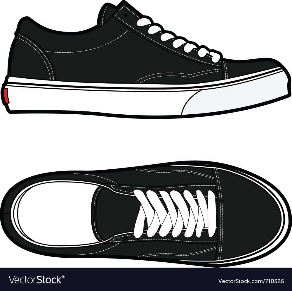 old school shoes royalty free vector image vectorstock rh vectorstock com vector shop victor shoes for women