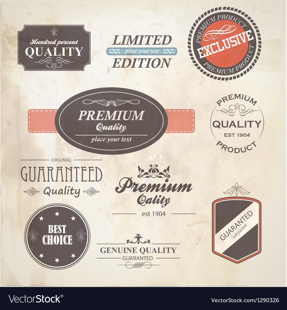 Retro styled labels