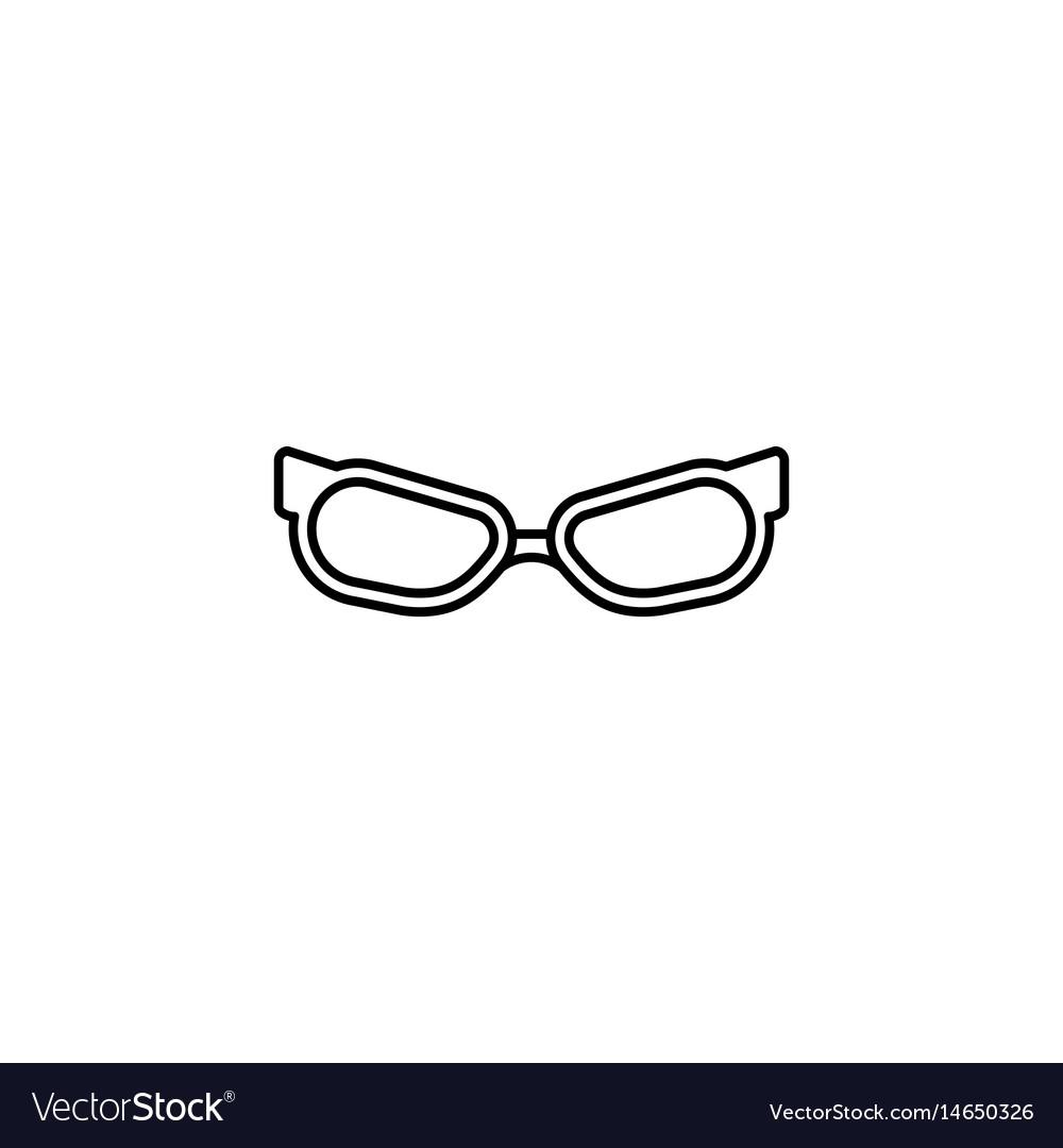 Sunglasses line icon travel tourism vector image