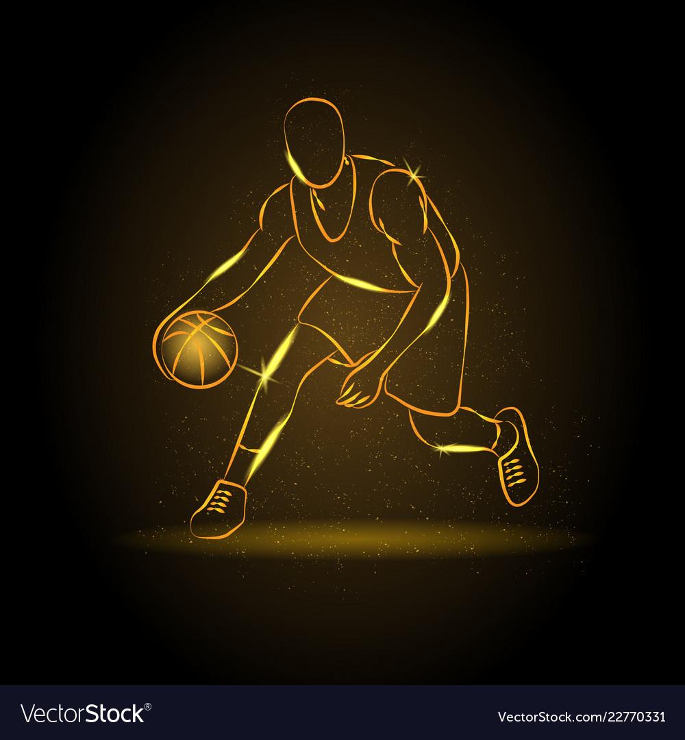 Basketball man silhouette