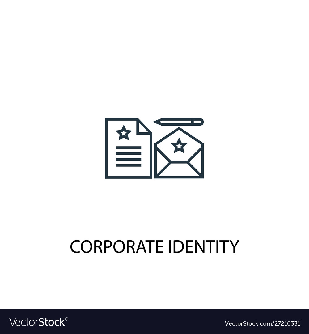 corporate identity concept line icon simple vector image corporate identity concept line icon simple vector image
