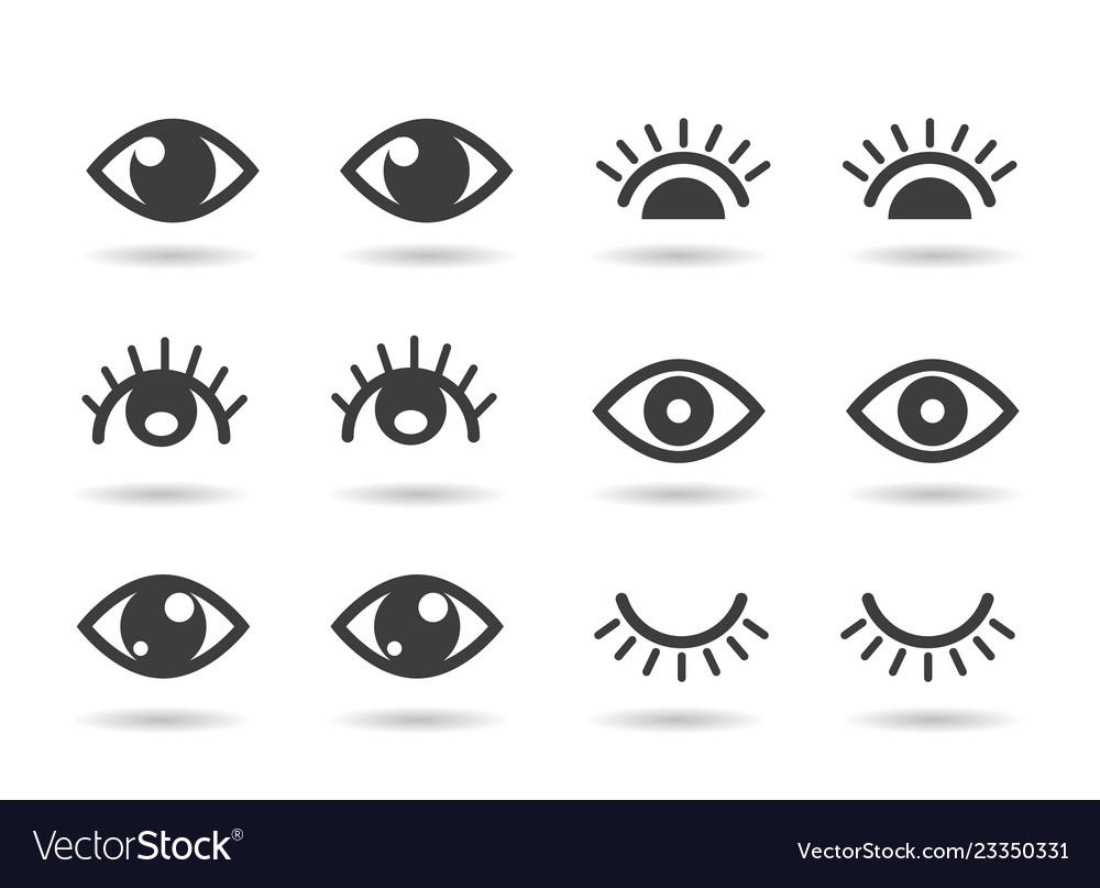 Eyes and eyelashs icons