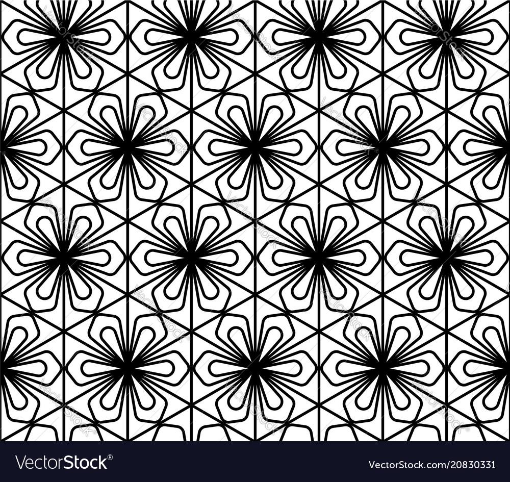 Seamless geometric pattern in style kumiko