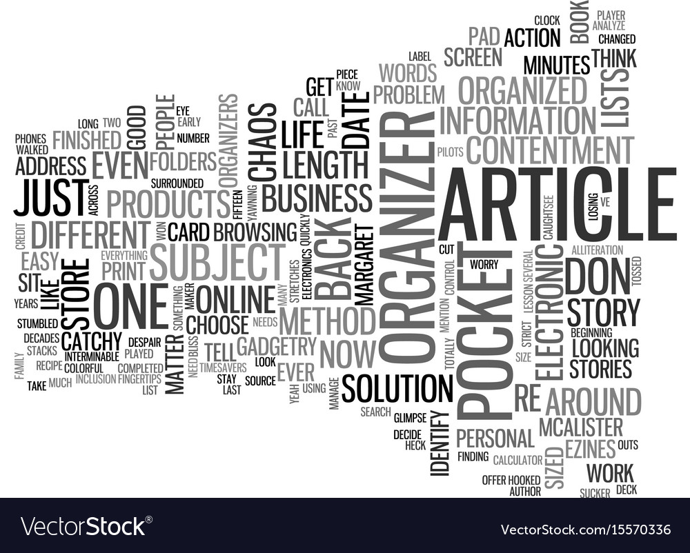 An article about articles text word cloud concept