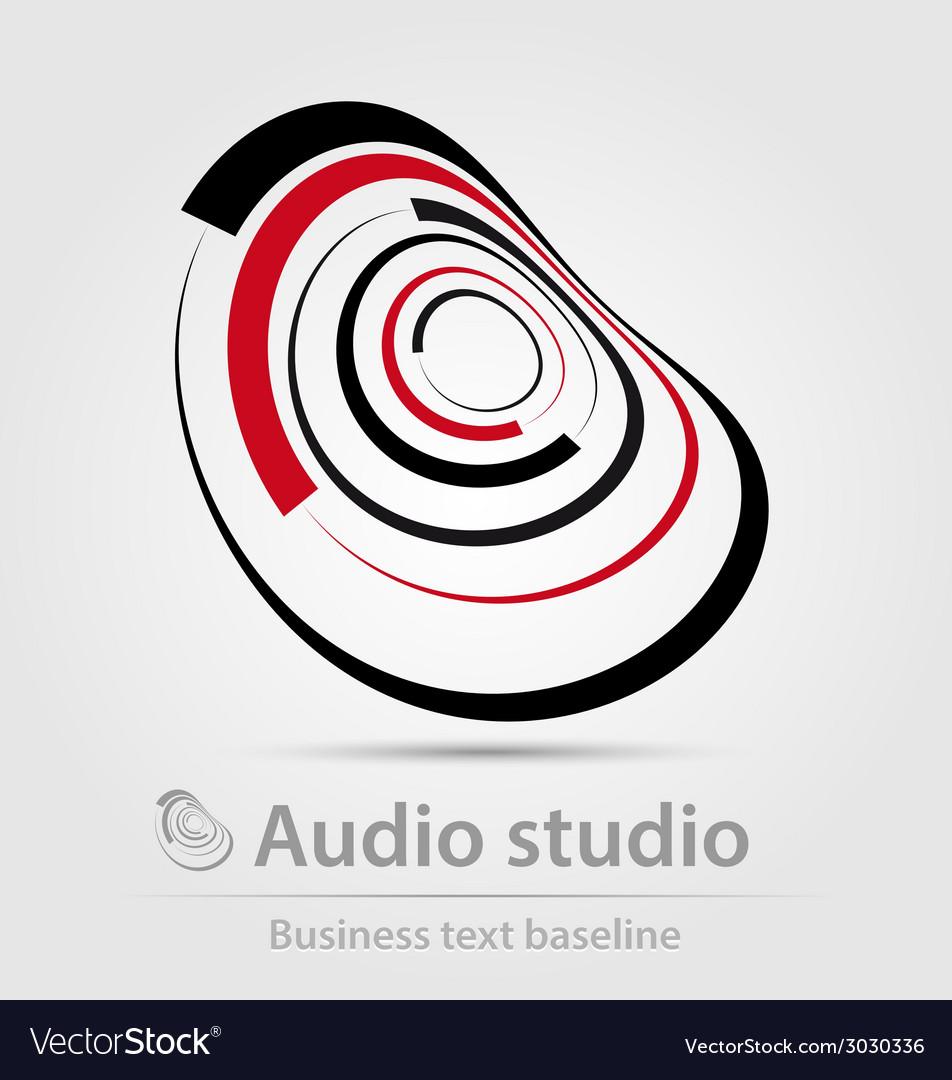 Audio studio business icon vector image