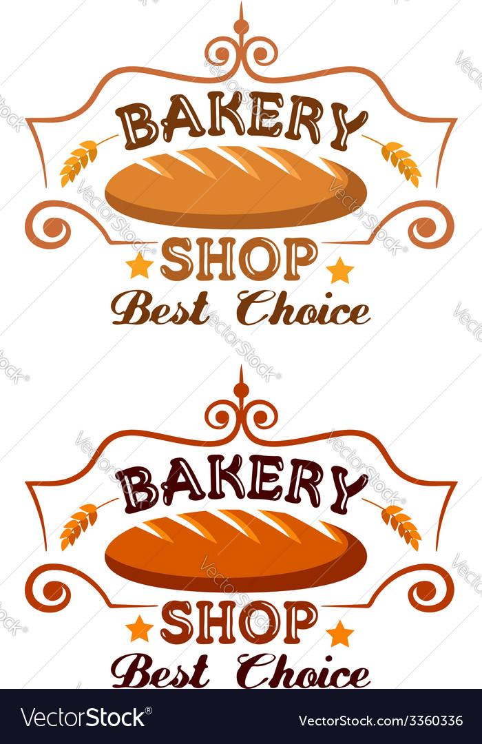 Bakery shop label vector image