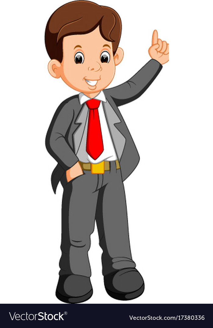 businessman cartoon presenting royalty free vector image rh vectorstock com businessman cartoon images businessman cartoon character free download